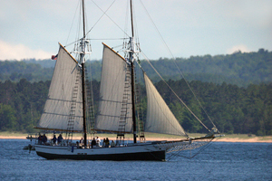 sail boat in lake superior